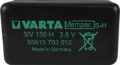 Varta Mempac 55615703012 - 3/V150H PC TP Battery - 3.6V 150mAh Ni-MH
