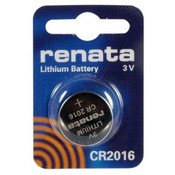 Renata CR2016 Lithium Battery - 3V 90mAh