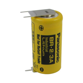 Panasonic BR-2/3AE2SP Battery - 3 Volt 1200mAh 2/3 A Lithium 3 Pins (2+/1-)