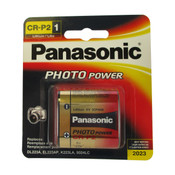 Panasonic CR-P2 Battery - 6 Volt 1400mAh Lithium (Carded)