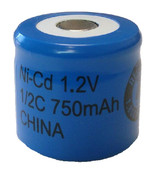 Evergreen 1/2C 750mAh Nicad Flat Top