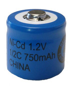 1/2C 750mAh Nicad Button Top Evergreen