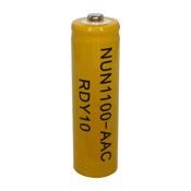 Nuon NUN-1100AAC Battery - 1.2V 1100mAh Ni-Cd AA Rechargeable (Button Top)