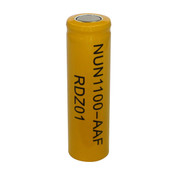Nuon NUN-1100AAF Battery - 1.2V 1100mAh Ni-Cd AA Rechargeable (Flat Top)