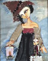 "Sandra Dooley #4232. ""S y M,"" 2007. Mixed media on canvas. 20 x 15.75 inches."