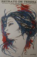 """Servando Moreno (ICAIC) """"Retrato de Teresa,"""" 1979. Silk screen print, ICAIC. 30 x 20 inches."""