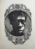 "Carballo (Oscar Carballo)  #117. ""Choco,"" N.D. Woodcut print edition 5 of 13.  21.5 x 15.5 inches."