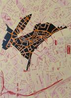 """Ibrahim Miranda #5666. """"El conejo de Basel,"""" 2007. Screen print edition 15/ 25.   30"""" x 22."""""""