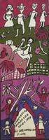 """Isabel de las Mercedes #2077. """"El disconsido finca,"""" 1993. Tempera on paper, 17 x 5 Inches."""