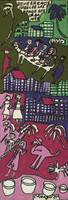 "Isabel de las Mercedes #2078. ""Benceremos,"" 1993. Tempera on paper. 17 x 6 inches."