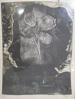 Nelson Dominguez #41. Untitled, N.D. Woodcut print. 24 x 18.75 inches.