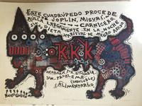 """Sosabravo (Alfredo Sosabravo) #140. (NFS) """"KKK (Poema del gran zoo),"""" 1974. Lithograph print edition 6/10.  20 x 29 Inches."""