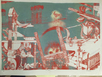 "Pablo Borges #145. ""El taller,"" N.D. Print. 15.5 x 21.5 inches."