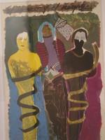 """""""El blanco y el negro"""", Moises Finale #419. 1987. Silk screen, edition print 52 of 65. 35.5"""" x 25""""."""