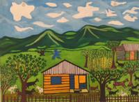 """Calunga (Francisco Ravelo Calunga) #6210 (SL).  """"La esperanza,"""" 2015. Oil on canvas, 9 x 12 Inches."""