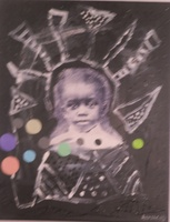 """""""Mirror without Sorrows"""", Rafael Arzuaga #6022A. 2009. Mixed media on canvas, 16"""" x 12""""."""