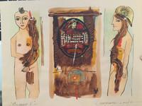 "Montebravo (José Garcia Montebravo)  #6201B. ""Bucanero V,"" 2007. Mixed media on paper. 9 x 11 inches."