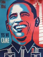 "Ares {Aristides Hernandez} Obama, 2016. Serigraph, 31/50.  27.5"" x 19.5"""