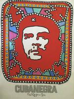 "Goire (Suitberto Goire Castilla) #2418B. ""Cubanegra,"" 2000. Acrylic on heavy paper. 27.5 x 19.5 inches."