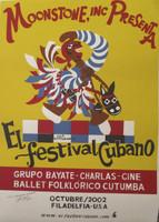 """El Estudiante (Luis Rodriguez Ricardo) #3024B. """"El festival Cubano,"""" 2002. Silkscreen print. 27.5 x 20 Inches."""