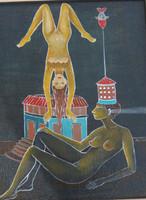"Alicia Leal #5293 Untitled, 2009, acrylic/pressed board, 17"" x 13"""