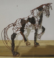 Fidel Reina #6610. Untitled, 2016. Copper wire sculpture, 13 x 14 Inches. SOLD!