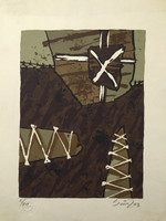 Sainz (Alejandro Sainz Alfonso) #3359. Untitled, 2003. Screen print edition 5 of 24. 11 x 8.5 inches.