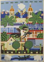 El Estudiante (Luis Rodriguez Ricardo) #3804. Untitled, 2004. Silkscreen print edition 28/30.  28 x 20 Inches.