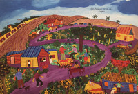 "Llopiz (Angel Llopiz Martinez) #3904. ""Los puercos, 2005. Oil on canvas. 18 x 26 inches."