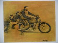 Villalvilla (Camilo Salvador Díaz de Villalvilla Soto)  #5043. Untitled, N.D. Mixed media on paper. 8 x 10 inches.