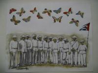 """Villalvilla (Camilo Salvador Díaz de Villalvilla Soto) #5044. Untitled, ND. Mixed media, collage, 8"""" x 10"""""""