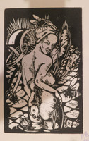 Alberto Piloto Pedroso #6683 (SL). Untitled, 2017. Woodcut print. 11 x 7.5 inches.