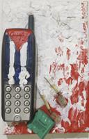 Remberto Ramirez #5271-16. Untitled, 2010. Mixed media on canvas. 8 x 5.5 inches.