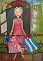 """Sandra Dooley  #8067 (SL) NFS. """"Sandy,"""" 2014. Acrylic on canvas. 14 x 10 inches"""