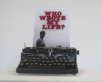 """Ernesto Javier Fernandez, """"Who Wrote My Life,"""" 2013. Mixed media w vintage typewriter. 5/5.  15 x 10 x 10 Inches. SOLD!"""
