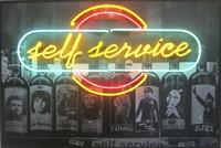 "Ernesto Javier Fernandez,  ""Self service,"" 2009. Mixed media. 31.5 x 47.5 Inches. SOLD"