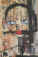 "Sandra Dooley #6085 ""Labios rojos,""  2013. 5 x 9 Inches"