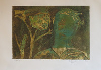 Sandra Dooley #7060B Untitled, 2014. Collagraph print,  9.5 x 13 1/4 inches