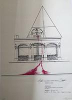 "Carlos Garaicoa #1826B. ""Rivoli o el lugar de donde emana la sangre,"" 1994. Serigraph print, Artist proof. 27.5 x 19 inches."