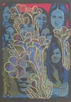 Raul Martinez #724. Untitled, N.D. Silkscreen. 26 x 18 1/4 inches.