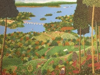 "Roberto Torres Lameda #4303. ""La presa,"" 2007. Oil on canvas. 23.25 x 31.5 inches."