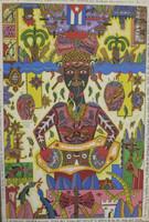 "Vilva (Elio Vilva-Trujillo) #4918BX. ""Chango,"" 2009. Oil on canvas. 24 x 16 inches."