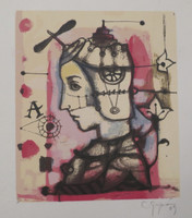 Carlos Guzman #5223 (SL) Untitled, 2009. Serigraph print edition 61/100.   10.5 x 9 inches.