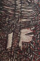 Choco (Eduardo Roca Salazar) #2820. Untitled, 1987. Serigraph print edition 75 of 150.  21.5 x 15 inches.