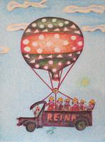 Basulto (José Basulto Caballero)  #4005 (SL) Untitled, 2004. Colored ink and pencil on paper. 9.5 x 7 inches.