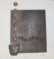 """Mabel Poblet #4050 (SL) """"Presencia,"""" N.D. Etching print edition 3 of 5. 10 x 9 inches."""