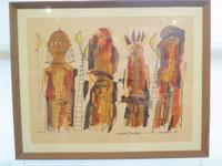 """Montebravo (José Garcia Montebravo)  #6712 (JS) """"Espacios transitados,"""" 2002.  Ink/watercolor on paper. 19.5 x 20.5 inches.  SOLD!"""