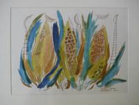 """Montebravo (José Garcia Montebravo)  #2478. """"Fantasia tropical,"""" 2001. Watercolor on paper. 15 x 20 inches."""