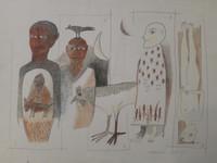 Montebravo (José Garcia Montebravo)  #2718 (SL) Untitled, 2001. Acrylic and pencil on paper. 15 x 20 inches.