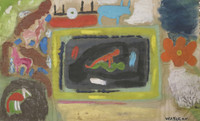 Wayacón (Julián Espinosa) #2446 (SL) Untitled, N.D. oil on canvas. 15 x 24.5 inches.